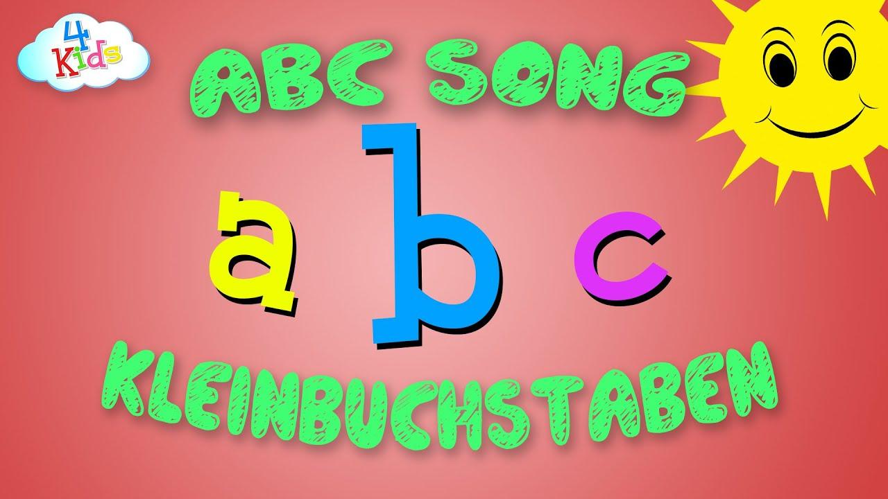abc song in kleinbuchstaben f r kinder und kleinkinder kinderlieder zum mitsingen lernen. Black Bedroom Furniture Sets. Home Design Ideas
