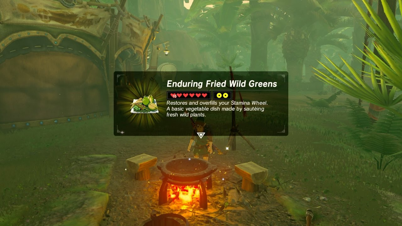 Zelda botw best stamina recipe enduring fried wild greens youtube zelda botw best stamina recipe enduring fried wild greens forumfinder Image collections