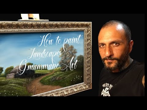 """how to paint landscapes G.mammanoArt oil painting """"Early autumn"""""""