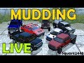 Farming Simulator 17 Live | Mudding With Trucks | Ford's | Chevy Flatbed's | GMC | Hummer | Dodge