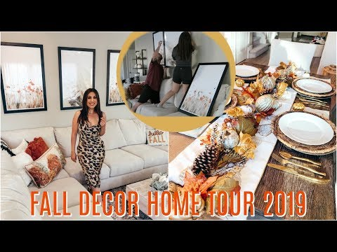 FALL Home DECOR TOUR 2019 & DECORATE With Me