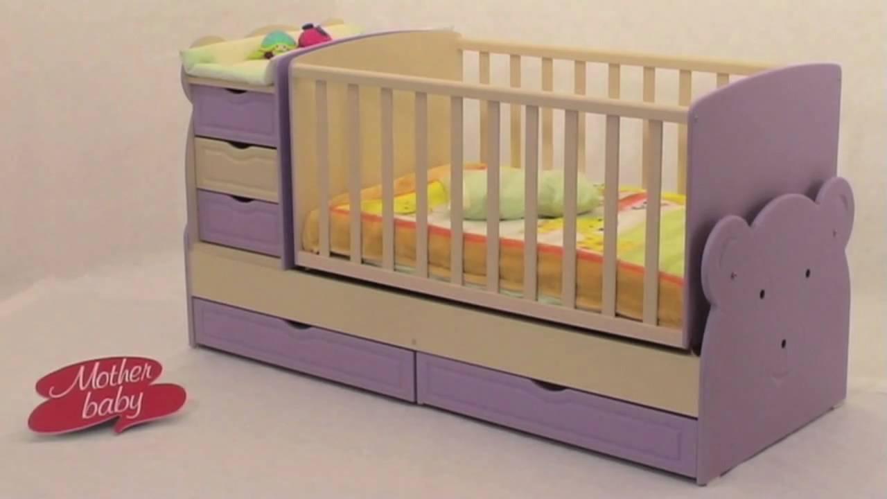 a6162804f09 Κρεβατάκι-Κούνια μωρού-Mother Baby Teddy 3 σε 1 - YouTube