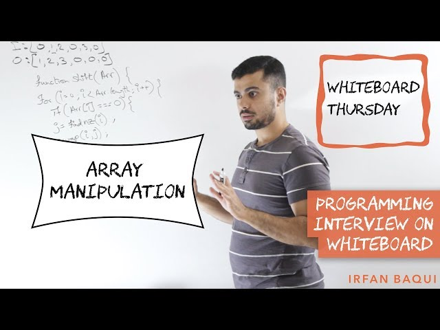 Array Manipulation in Place: Coding Interview Question in Whiteboard Thursday
