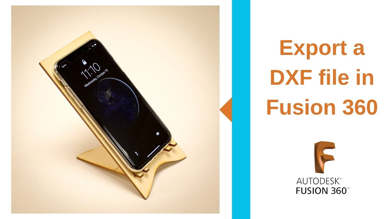 Export a DXF File in Fusion 360