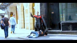 SuperHero in Public Prank