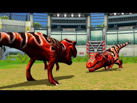 Tyrannosaurus VS Tyrannosaurus - Jurassic Park Builder JURASSIC Tournament Android Gameplay HD