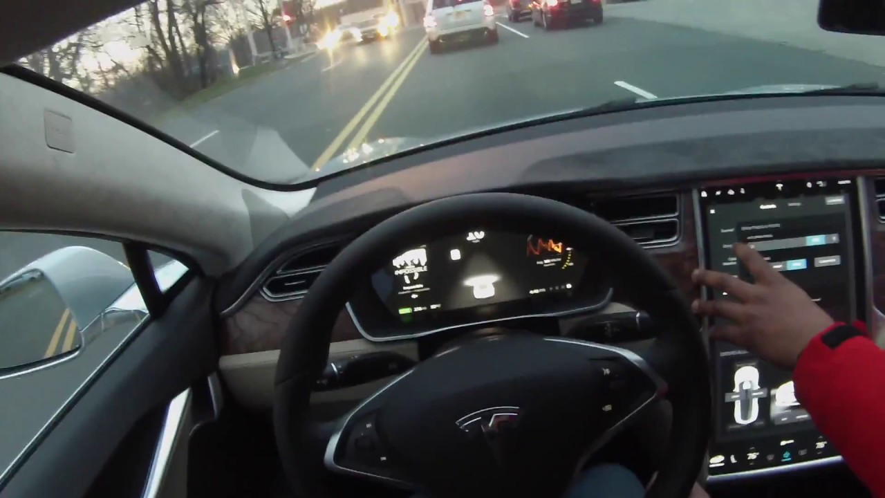 driving the 2016 tesla model s 75d pov youtube. Black Bedroom Furniture Sets. Home Design Ideas
