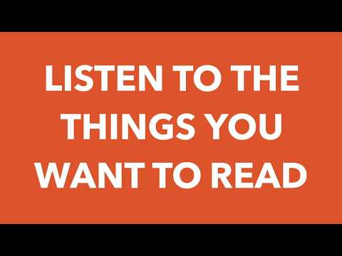 Eariously - Listen to the Things You Want to Read