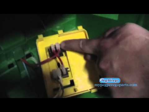 How to replace the foot embly for your Peg Perego John Deere ... Xuv Peg Perego Wiring Diagram on