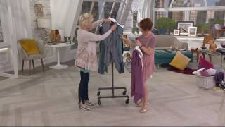 LOGO by Lori Goldstein Open Front Knit Vest with Hood on QVC(, 2017-06-10T18:25:53.000Z)