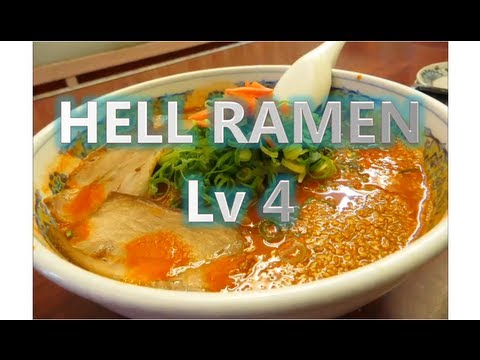 Making of Japan's professional absolute hot Hell Ramen Lv.4 and try