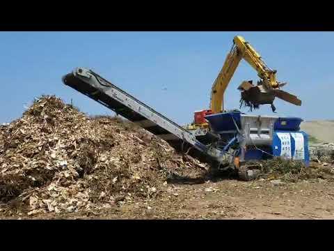 金茂榮環境工程有限公司-廢木材破碎實況 - YouTube