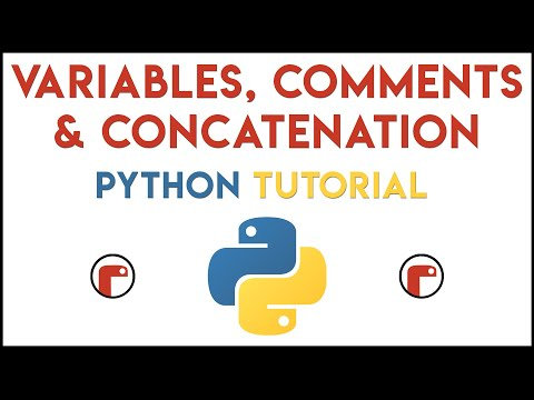Python - Variables, Comments & Concatenation Tutorial