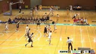 福岡第一vs尽誠学園(Q4)高校バスケ 2017 KAZUCUP 決勝リーグ戦