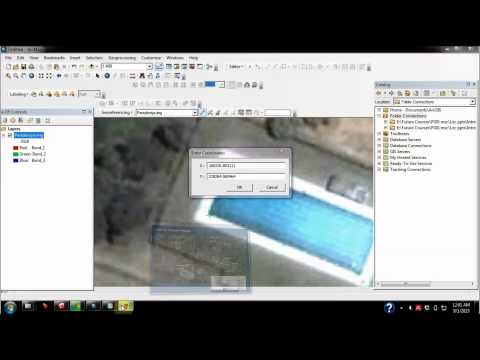 Georeferencing using a jpg image in Arcmap