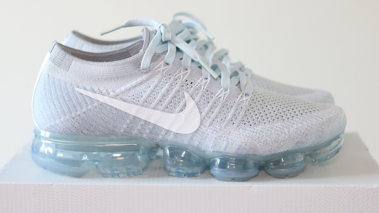 476007132787 Review  NIKE AIR VAPORMAX PURE PLATINUM WOLF GREY + ON FEET - YouTube