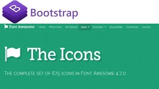 How To Use Font Awesome Icons In Bootstrap
