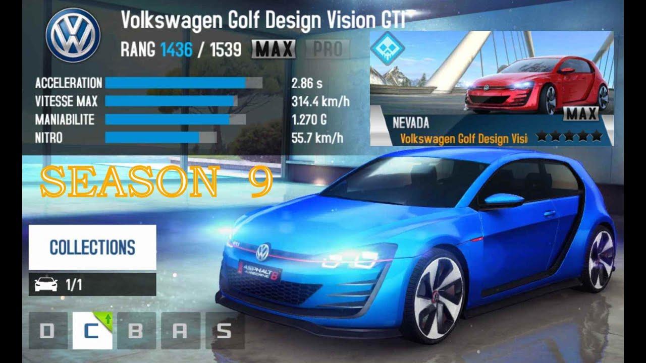 asphalt 8 golf design vision gti season 9 youtube. Black Bedroom Furniture Sets. Home Design Ideas