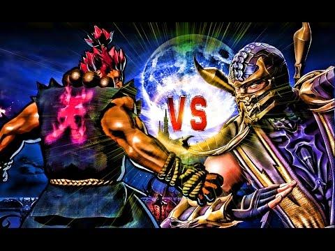 Scorpion vs Akuma - Demon vs Demon - Street Fighter vs Mortal Kombat