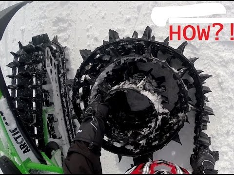 Big Horn Mountains Snowmobiling 2017 - Day 1 - Track Broke!