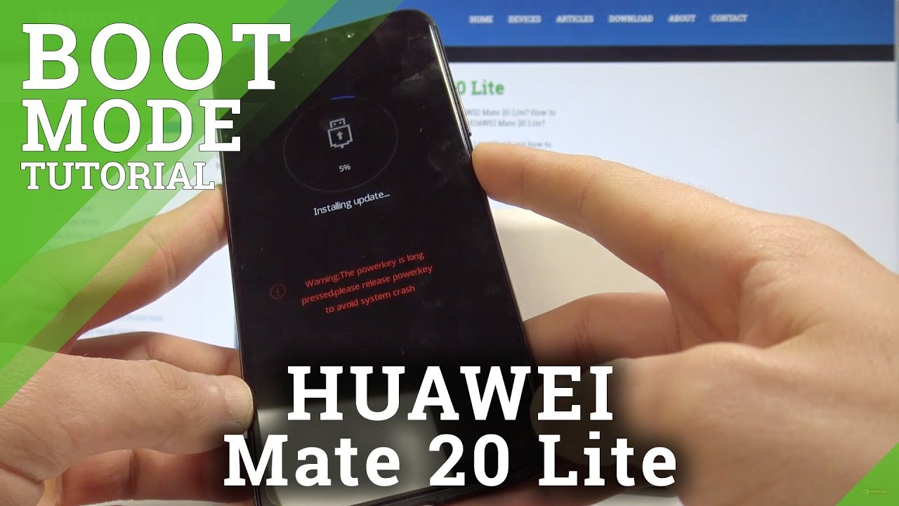 How to Boot into Download Mode in HUAWEI Mate 20 Lite - EMUI Download Mode