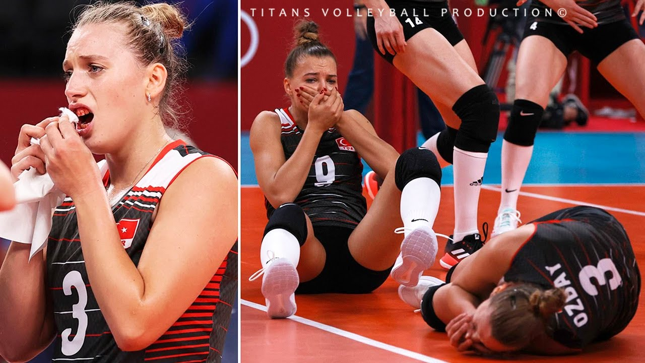DANGEROUS Volleyball Game - Collisions in Women's Volleyball 2021
