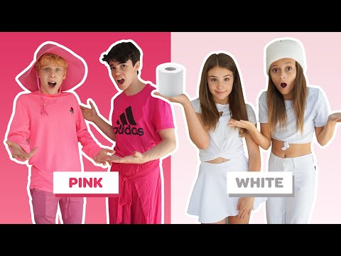 I'LL BUY ANYTHING IN YOUR COLOR Challenge BOYS Vs GIRLS W/ Piper Rockelle 🌈 | Sophie Fergi