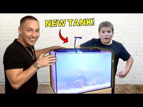 Joe's *NEW* AQUARIUM... Is Saltwater?! - (The King Of DIY)