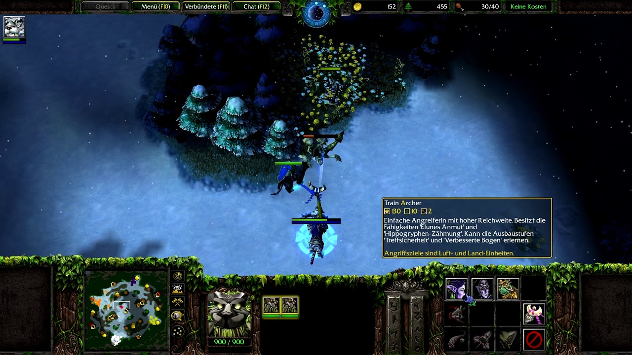 Warcraft 3 RT #088 (2v2) Nightelf - Nightelf vs Human - Orc [Deutsch/German] WC 3 TFT by DPoR LP