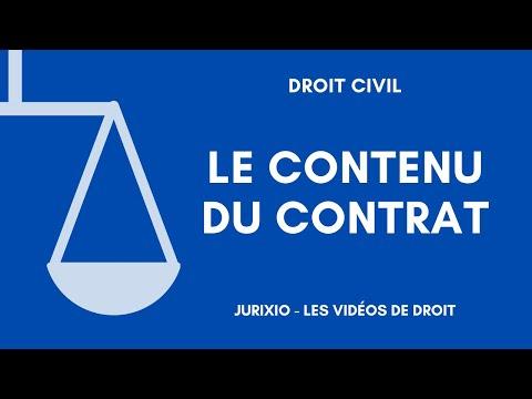 Le contenu du contrat et la réforme de 2016