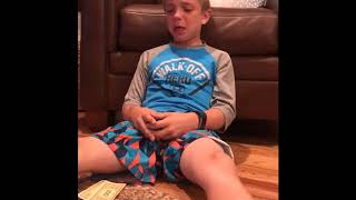 Kid Cries After Paying Monopoly Taxes