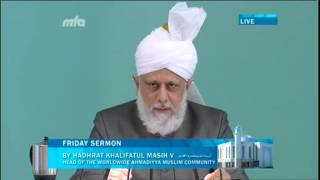 Freitagsansprache 28. September 2012 - Propagiert den wahren Charakter des Propheten Muhammad (saw)