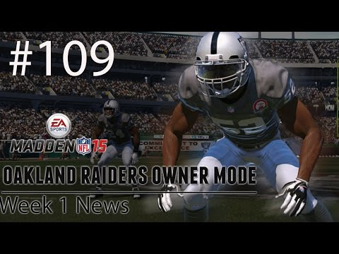 [PS4] Madden 15: Raiders Connected Franchise - Week 1 News [HD 1080P]