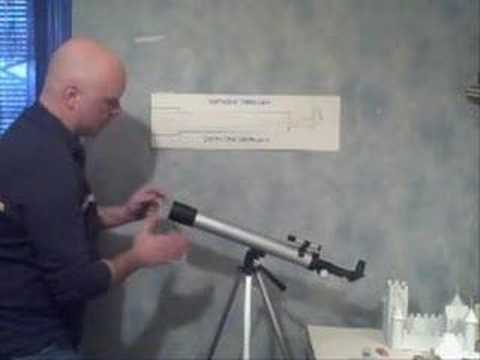 How a refractor telescope works youtube