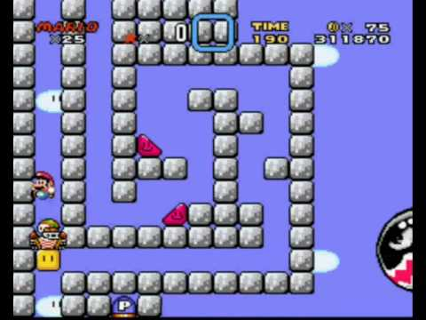 Super Mario World - Automatic Levels - Gravity (2 Ways one Exit)