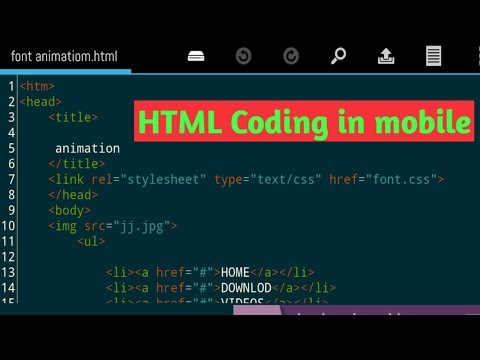 How To Make A (HTML,CSS) Website In Android Phone