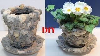 DIY Steinblumentopf ganz leicht selber zu machen/DIY stone flower pot quite easy to make yourself