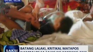 Saksi: Batang lalaki sa Aklan, kritikal matapos ihampas sa sahig ng kanyang ama