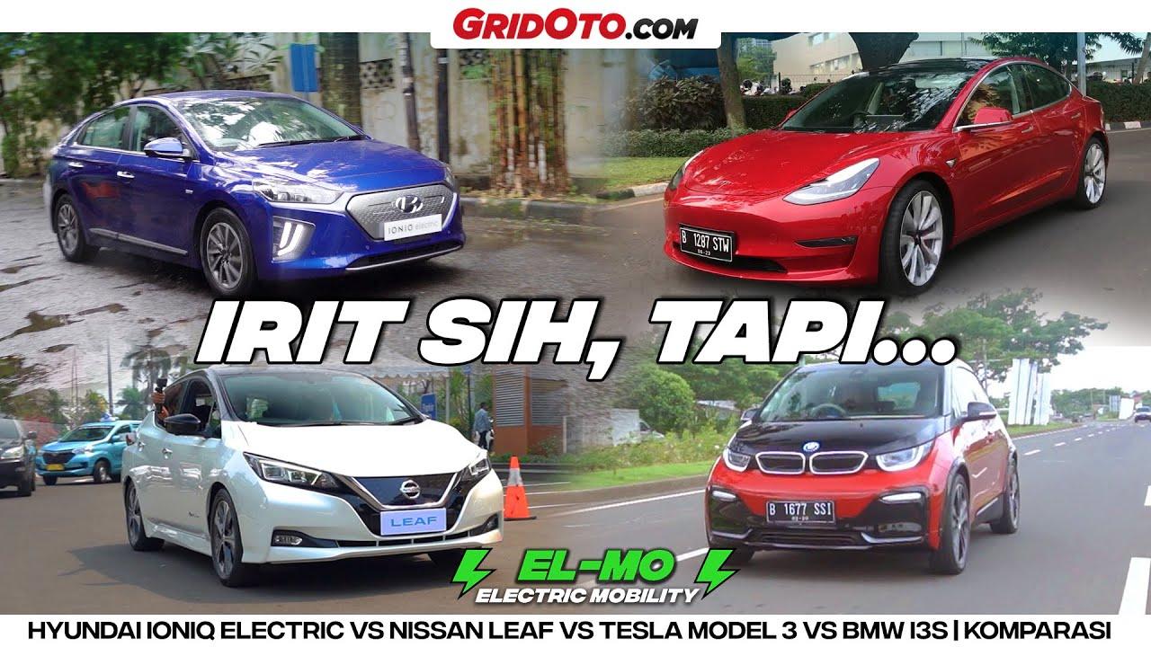Video Ulasan Hyundai Ioniq Electric VS Nissan Leaf VS Tesla