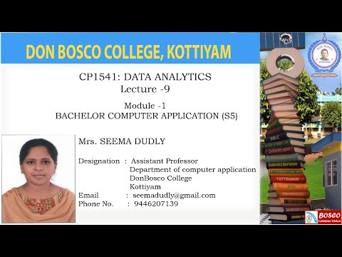 CP1541: DATA ANALYTICS Lecture -9- A Wider Variety of Data, unstructured data -BCA -S5.