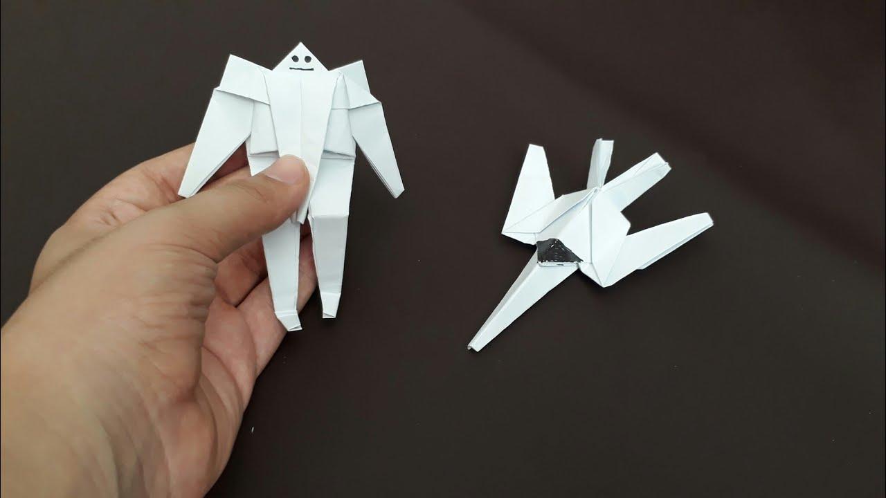 Kattan transformers yapm uaa dnen robot youtube paper transformers robot not glue not tape robot transform plane origami dnyas jeuxipadfo Images