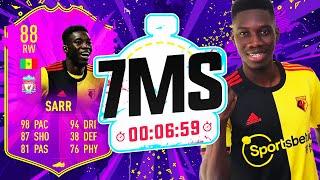 THE NEXT SADIO MANE!! FUTURE STAR SARR 7 MINUTE SQUAD BUILDER! - FIFA 20 ULTIMATE TEAM