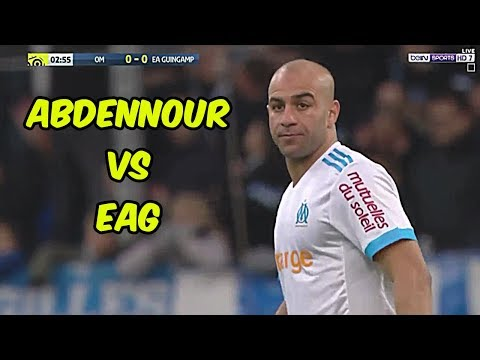 AYMEN ABDENNOUR individual highlights Marseille vs Guingamp 27-11-2017 (Home)