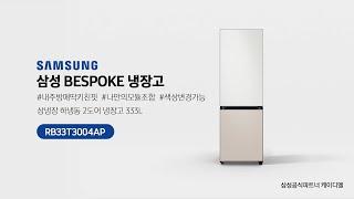 삼성 비스포크 BESPOKE 냉장고 2도어 RB33T3…