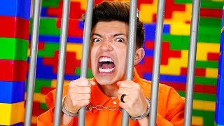 I Trapped PrestonPlayz In LEGO Prison For 24 Hours! - Challenge