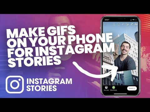 MAKE YOUR OWN GIFS ON YOUR PHONE FOR INSTGRAM STORIES! - Put GIFs In Insta Stories Tutorial/ How To