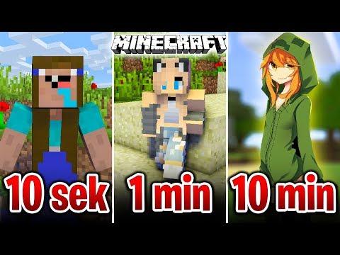 Minecraft BUDUJĘ DZIEWCZYNĘ W 10 SEKUND, 1 MINUTĘ I 10 MINUT!