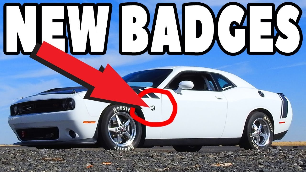 Scat pack fender badges for your dodge challenger or charger emblem
