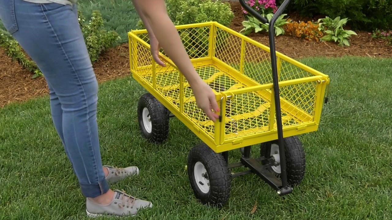 Awesome Green Garden Wagon Ideas - Landscaping Ideas for Backyard ...
