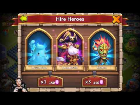 Rolling 23000 Gems For Dracax and Skull Knight Castle Clash